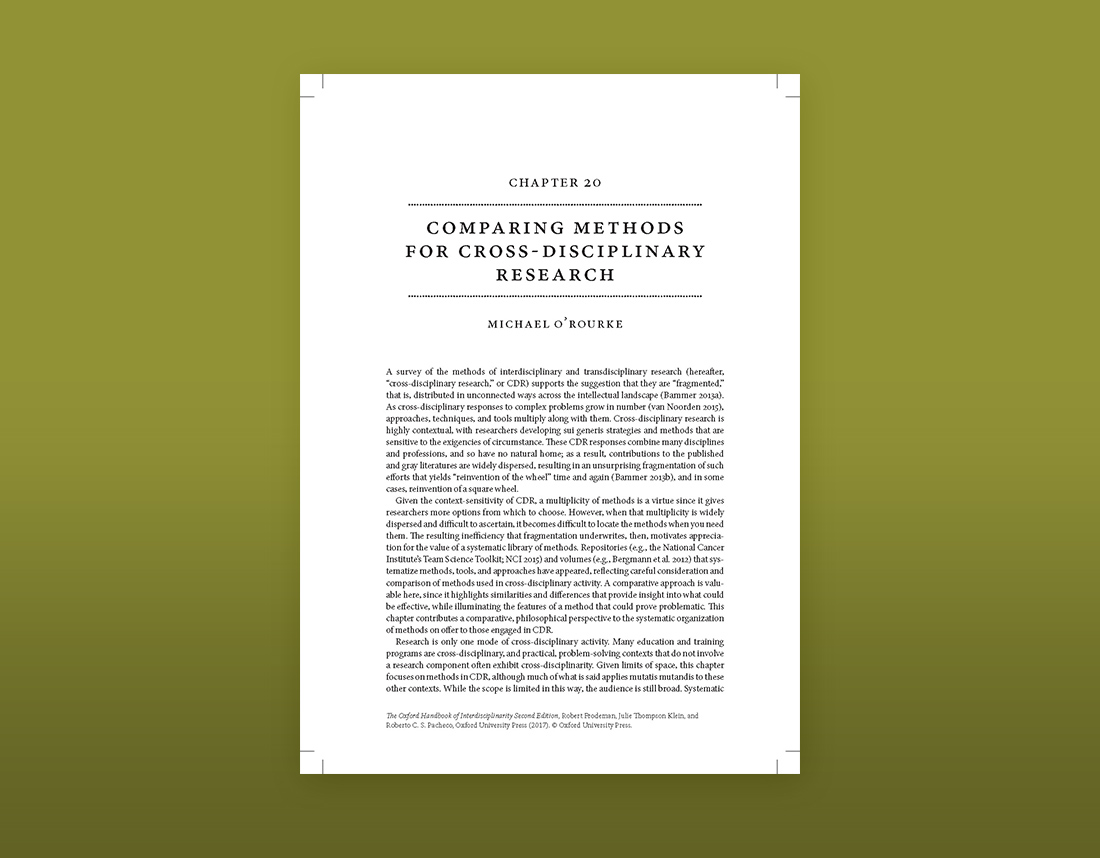 Cover of Comparing Methods for Cross-Disciplinary Research