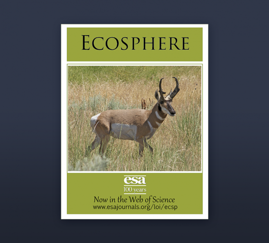 Cover Photo of Ecosphere Journal