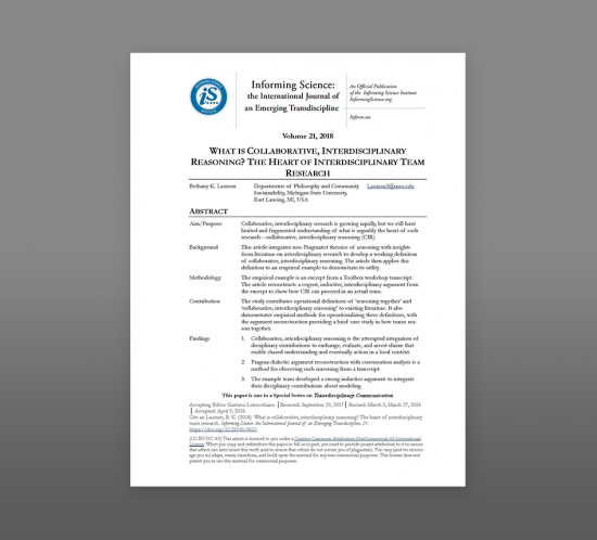 Thumbnail image of article The need for social ethics in interdisciplinary environmental science graduate programs: Results from a nation-wide survey in the United States