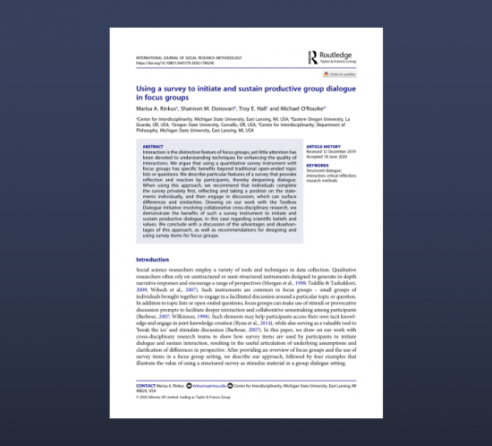 Rinkus et al 2020 first page
